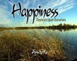 happiness depends on ourselves aristotle